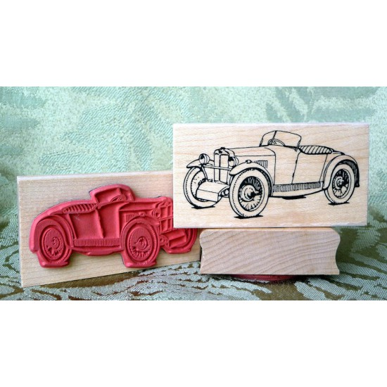 1929 MG Midget Rubber Stamp