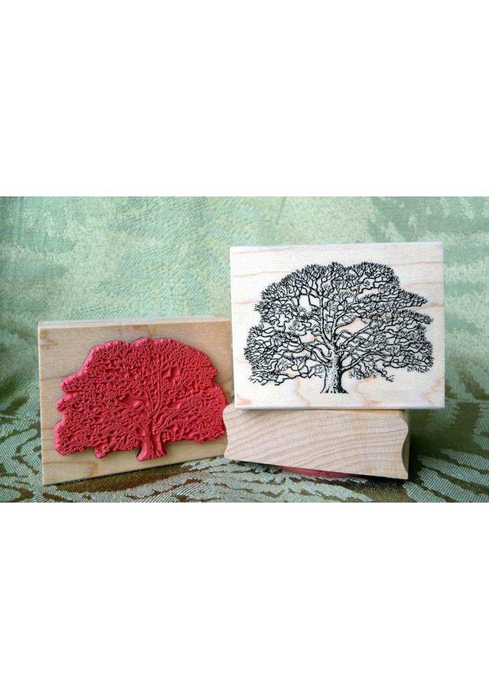 Oak Tree Rubber Stamp
