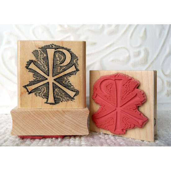 Christ Monogram Rubber Stamp