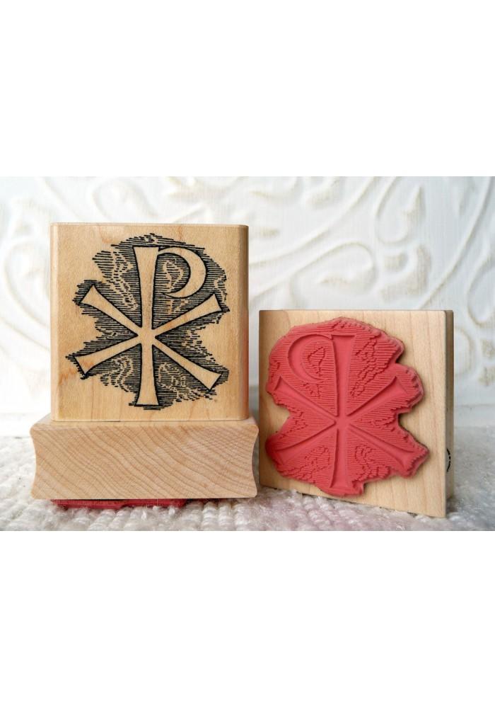 Christ Monogram Rubber Stamp