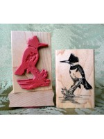 Kingfisher Rubber Stamp