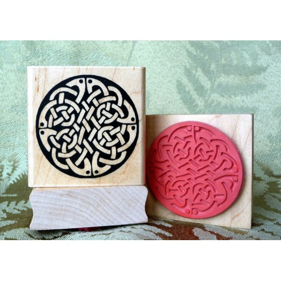 Celtic Circle of Knots Rubber Stamp