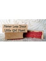 Little Girl Heart Rubber Stamp