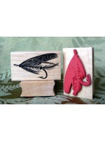 Fishing Fly Rubber Stamp