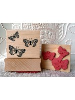 Three Butterflies Rubber Stamp