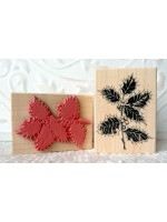 Variegated Holly Rubber Stamp