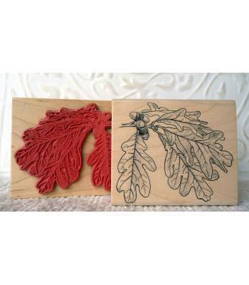 Oak Leaves Rubber Stamp