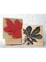 Horse Chestnut Leaf Rubber Stamp