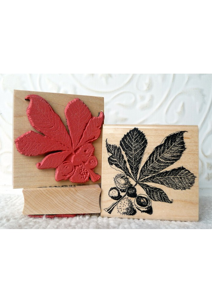 Horse Chestnut Leaf Rubber Stamp
