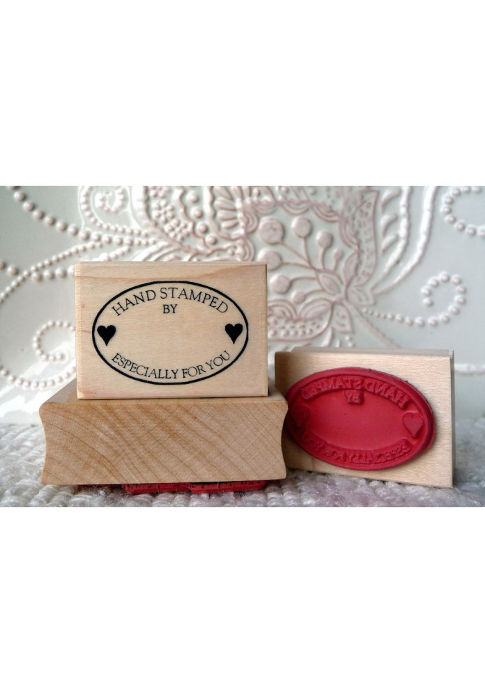 Hand Stamped Especially For You Rubber Stamp