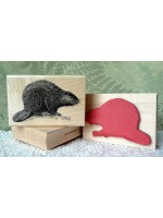 Beaver Rubber Stamp