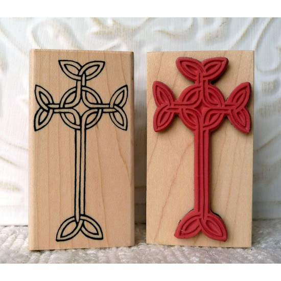 Celtic Cross Rubber Stamp