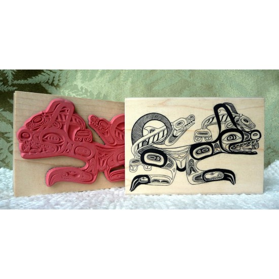 Whale/Wolf Rubber Stamp