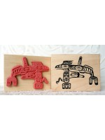 Sea Monster Westcoast Native Rubber Stamp