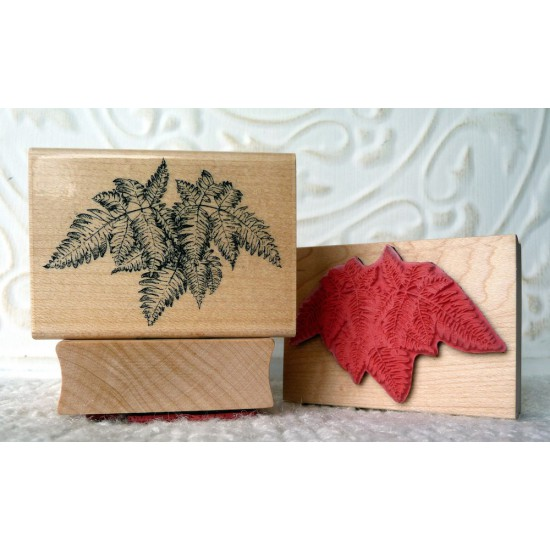 Boston Fern Plant Rubber Stamp