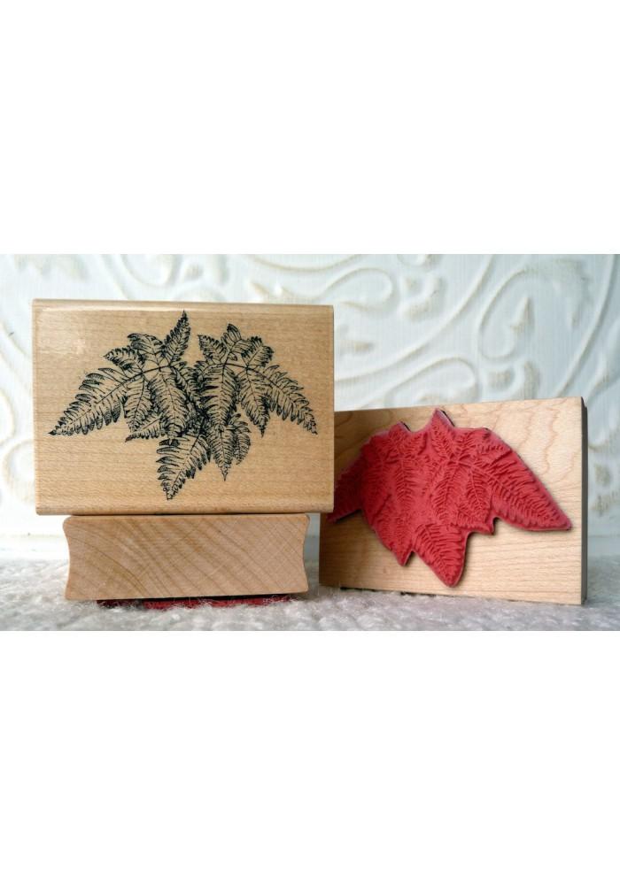 Boston Fern Plant Rubber Stamp