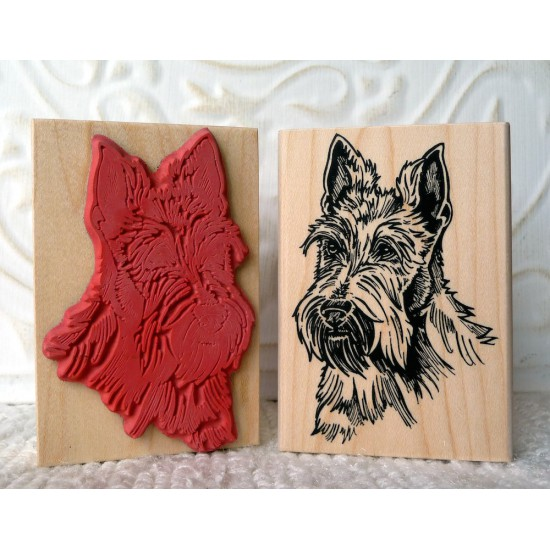 Scotty Dog Rubber Stamp