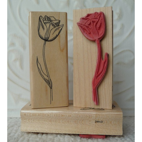 Tulip Flower Rubber Stamp