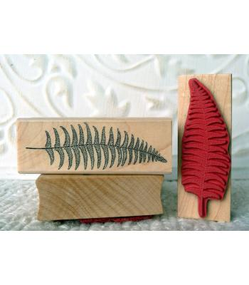 Small Fern Leaf Rubber Stamp