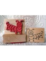 Caterpillar Kids Rubber Stamp