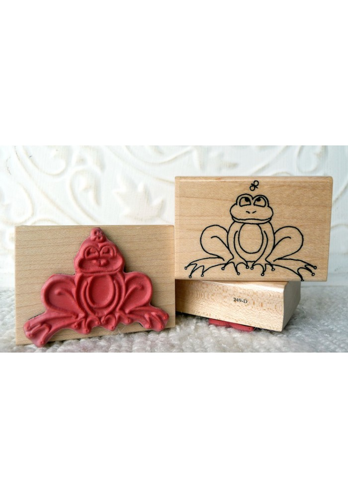 Frog Rubber Stamp
