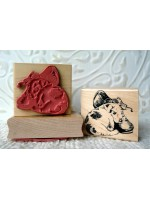 Pup with Shoe Rubber Stamp