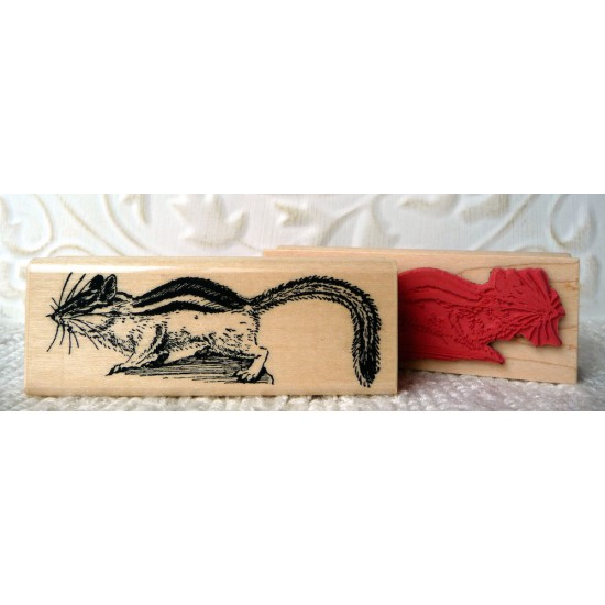 Chipmunk Rubber Stamp