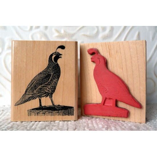 Quail Rubber Stamp