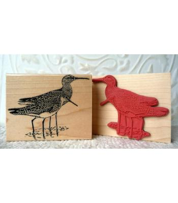 Sandpiper Bird Rubber Stamp