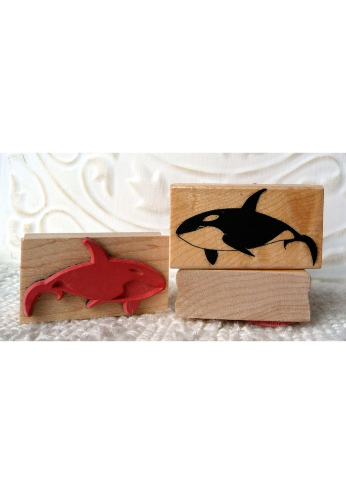 Small Orca Rubber Stamp