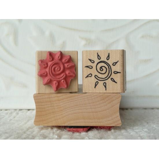 Swirly Sun Rubber Stamp