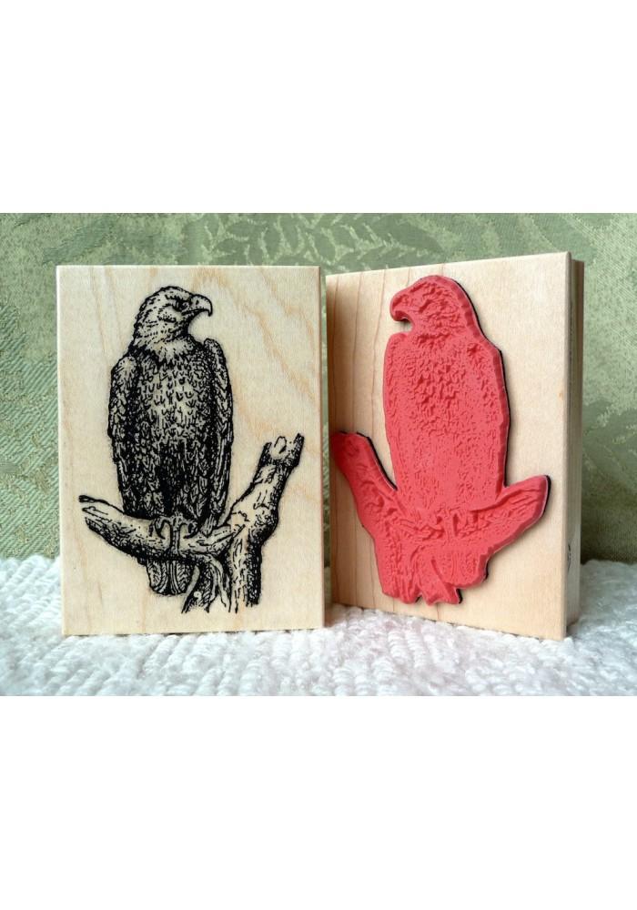 Bald Eagle Rubber Stamp