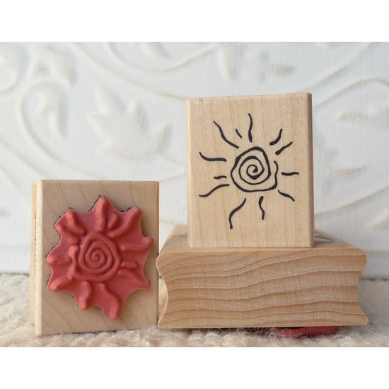 Hot Sun Rubber Stamp