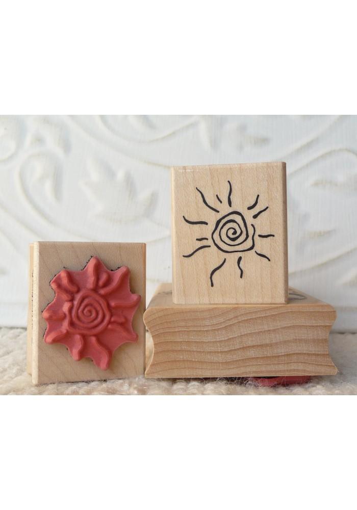 Hot Sun Rubber Stamp