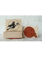 Witch Rubber Stamp