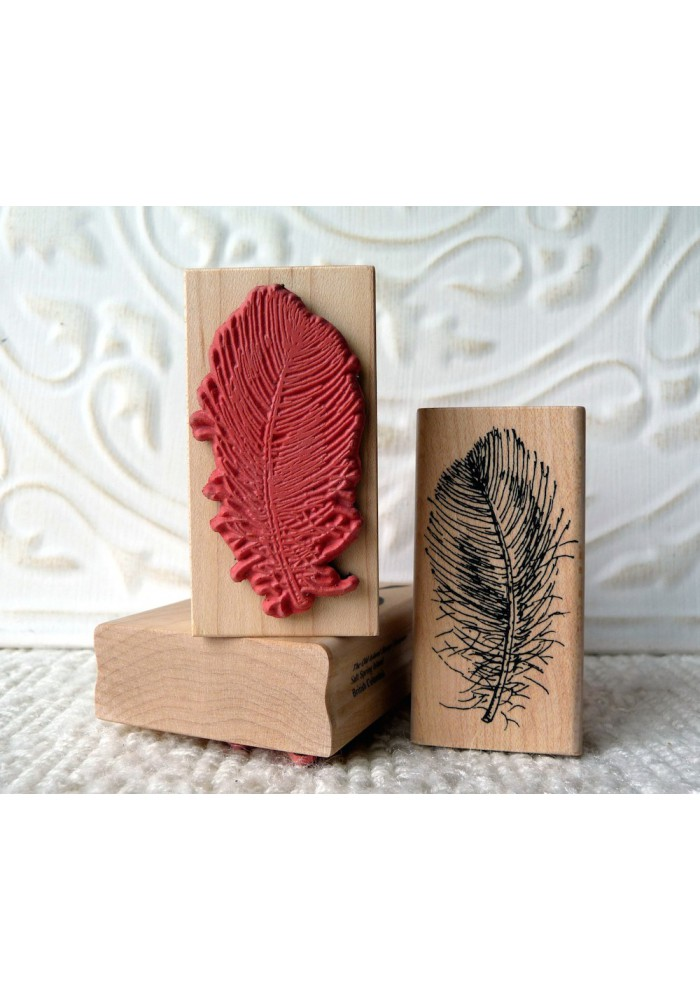 Downey Feather Rubber Stamp