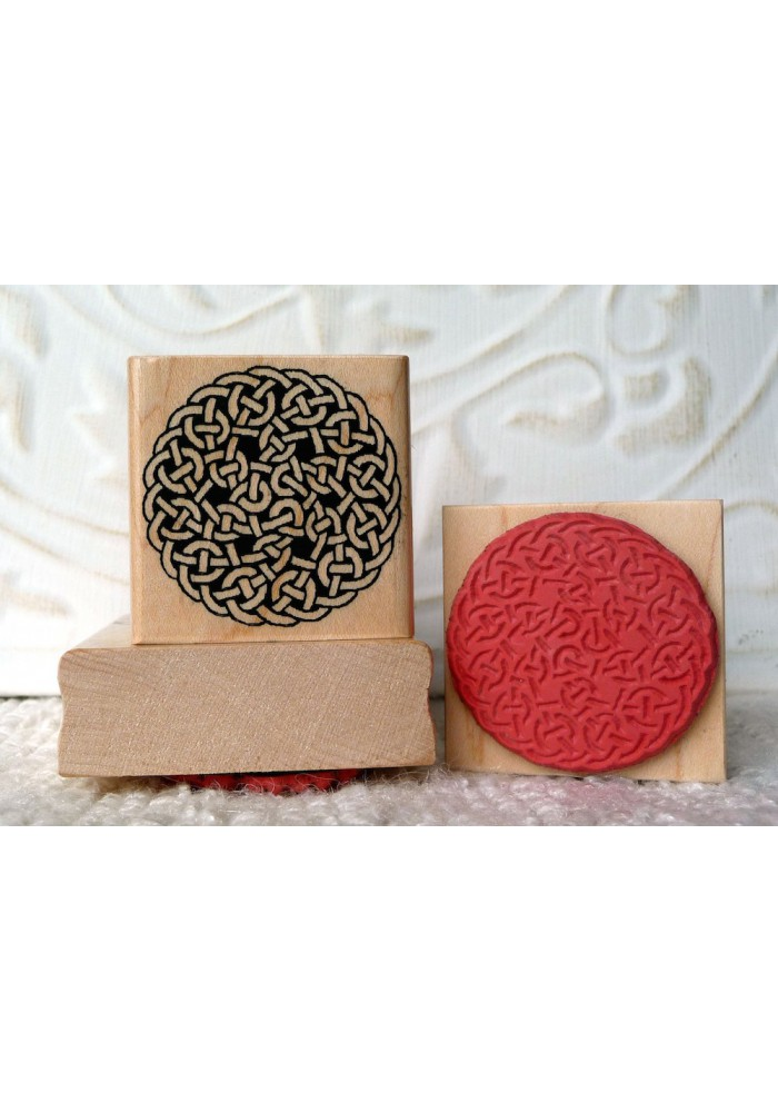 Celtic Rope Circle Rubber Stamp