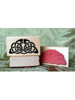 Celtic Half Circle Rubber Stamp