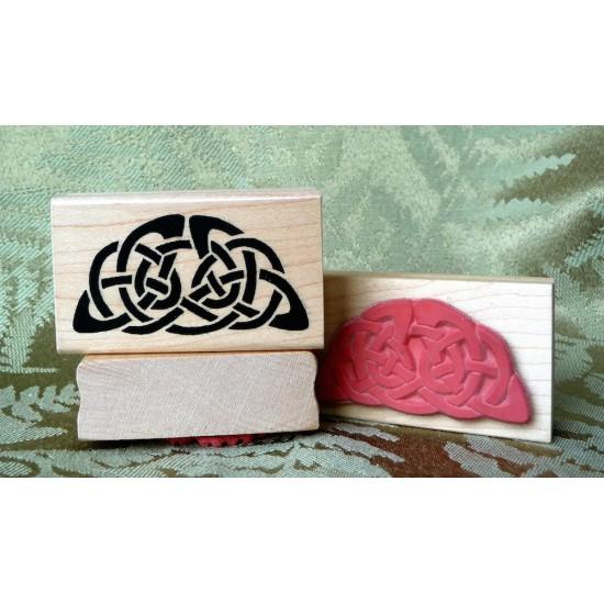 Celtic Half Circle Rubber Stamp