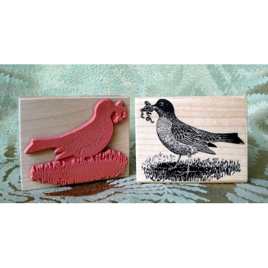 Robin Bird Rubber Stamp