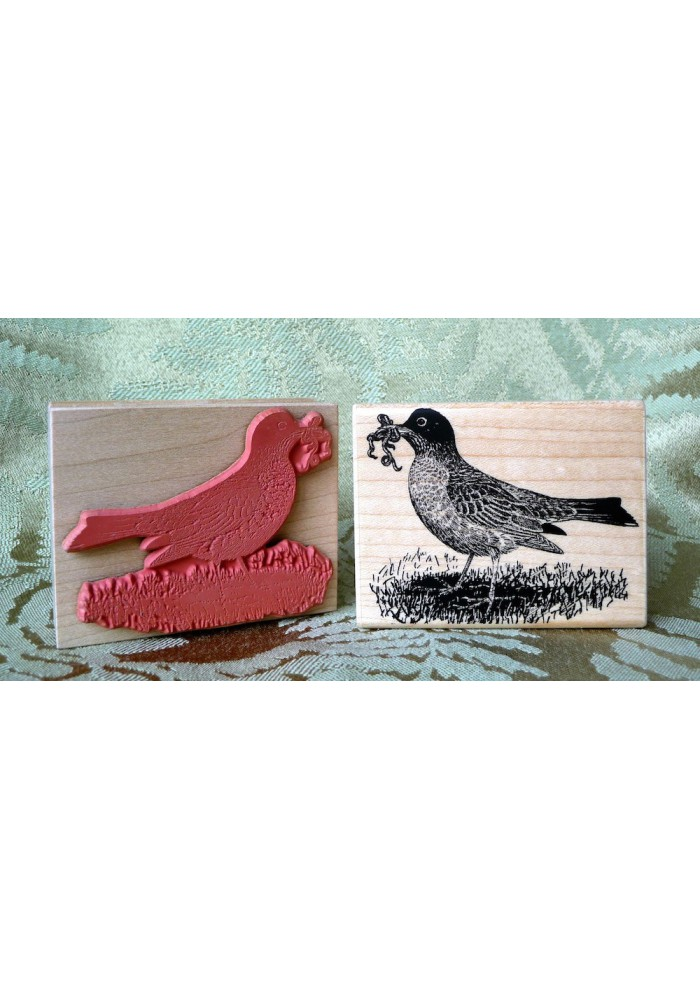 Robin Bird Rubber Stamp