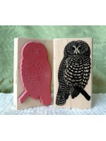 Spotted Owl Rubber Stamp