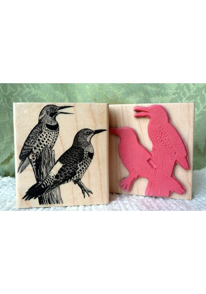 Flickers Bird Rubber Stamp