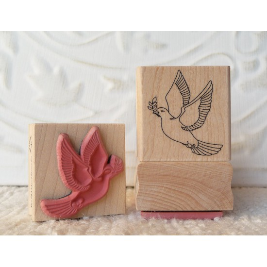 Peace Dove Rubber Stamp