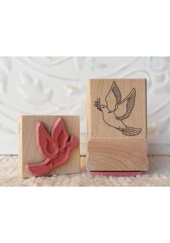 Peace Dove Rubber Stamp