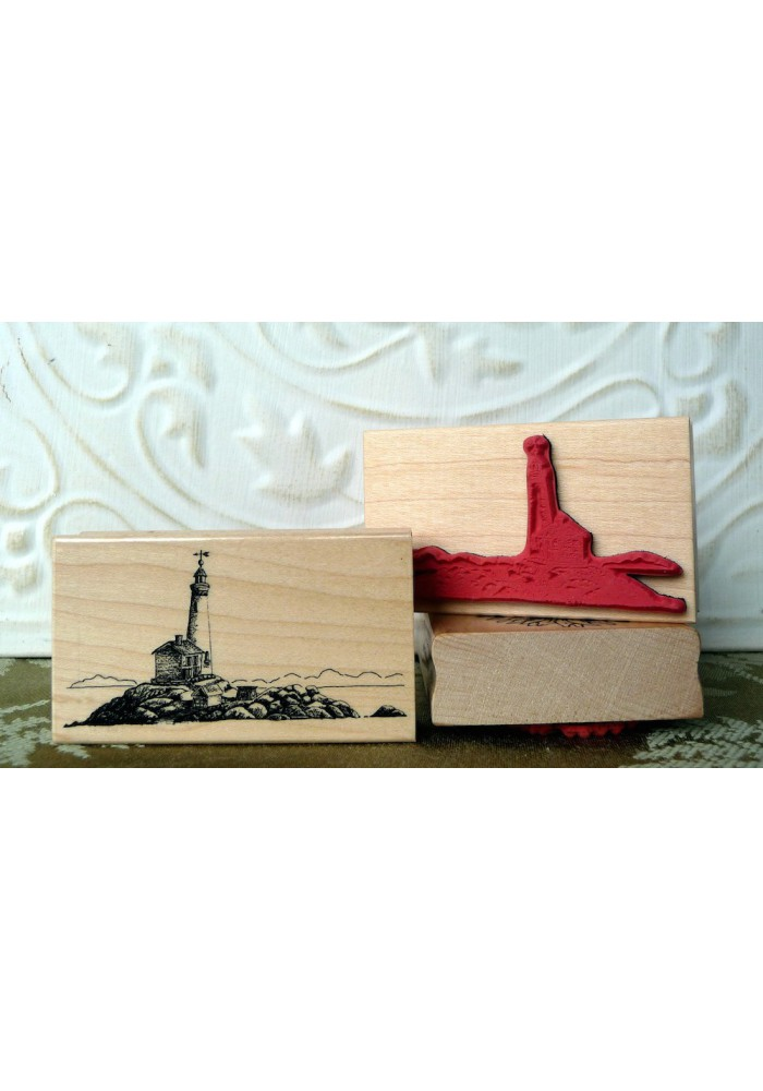 Fisgard Lighthouse Rubber Stamp