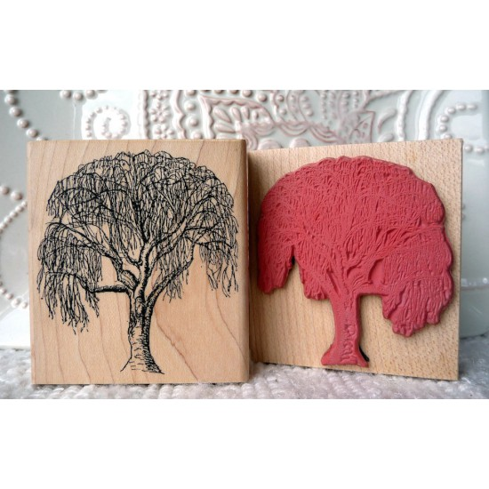 Birch Tree Rubber Stamp