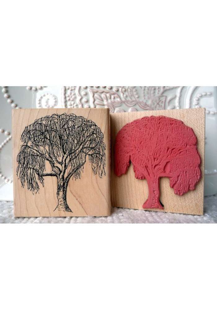 Birch Tree Rubber Stamp