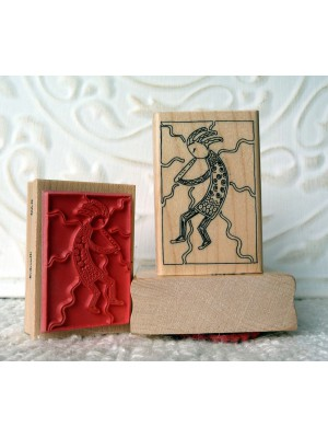 Small Kokopelli Rubber Stamp