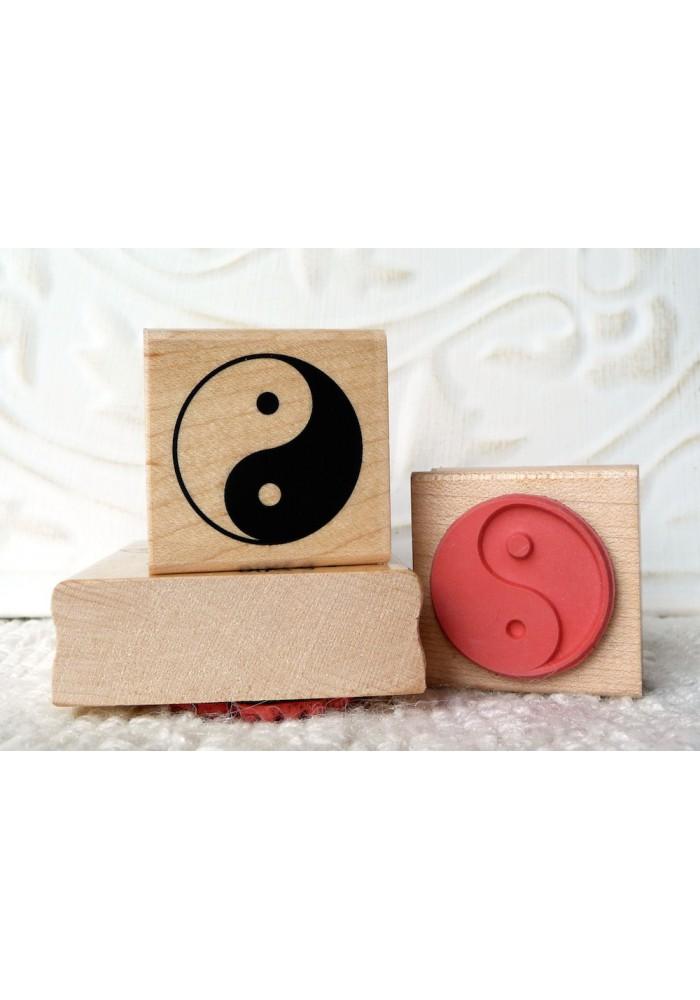 Yin Yang Rubber Stamp